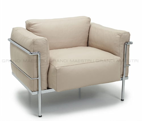 Poltrone lc3 armchair le corbusier grand confort for Poltrone le corbusier